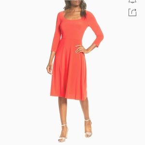 New Eliza J Square Neck Fit and Flare Dress